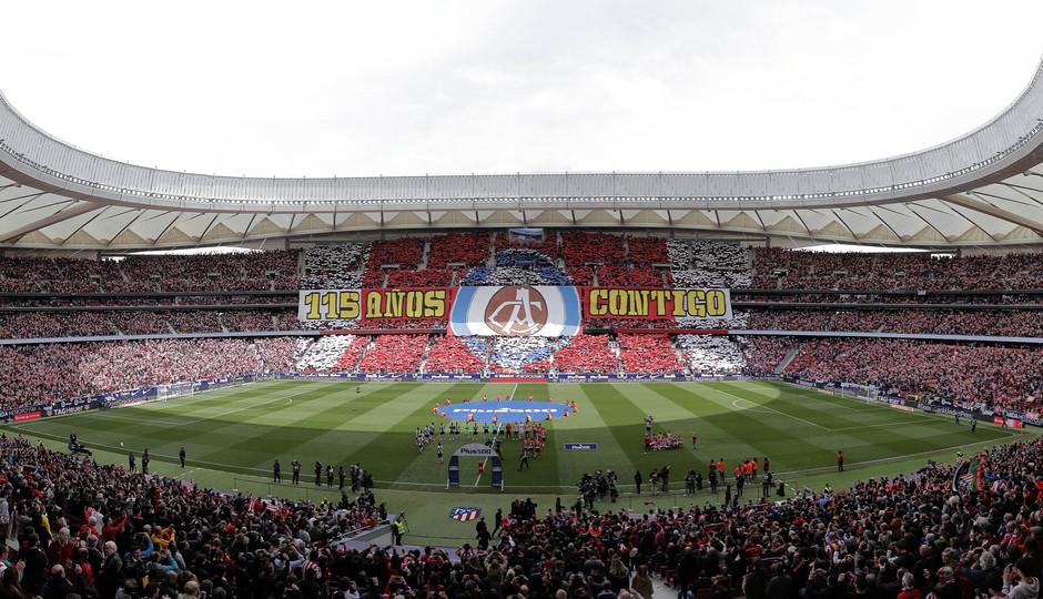 Temp 17/18 | Atlético de Madrid - Levante | Jornada 32 | 15-04-18 | Tifo
