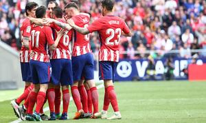Temp 17/18 | Atlético de Madrid - Levante | Jornada 32 | 15-04-18 | Griezmann celebración