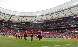 Temp 17/18 | Atlético de Madrid - Levante | Jornada 32 | 15-04-18 | Celebración Torres