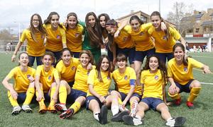 Temp 17/18   Atlético de Madrid Juvenil C Femenino   Campeón de Liga   Celebración