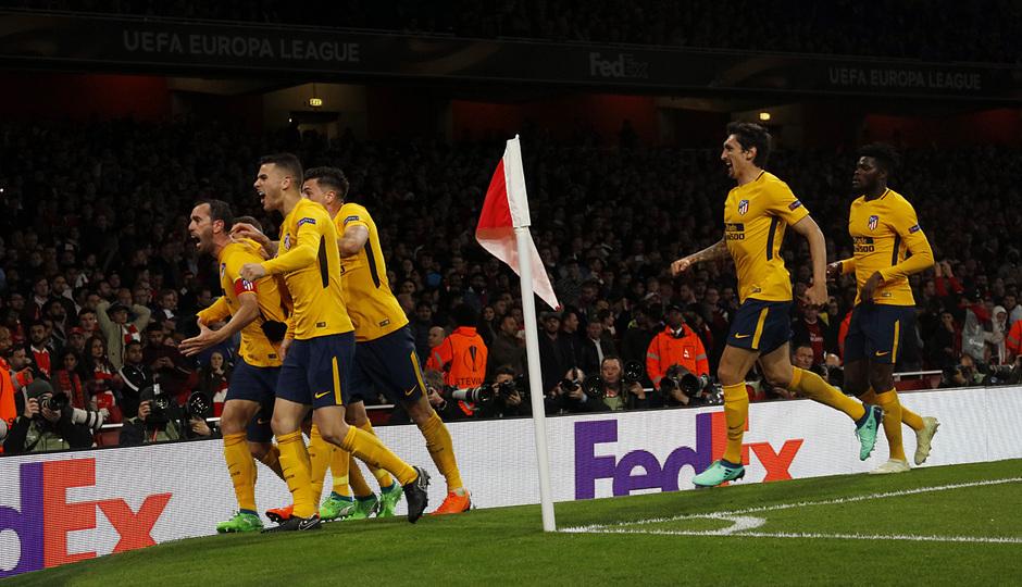 Temp. 17-18 | Arsenal - Atlético de Madrid | Ida de semifinales Europa League | Celebración