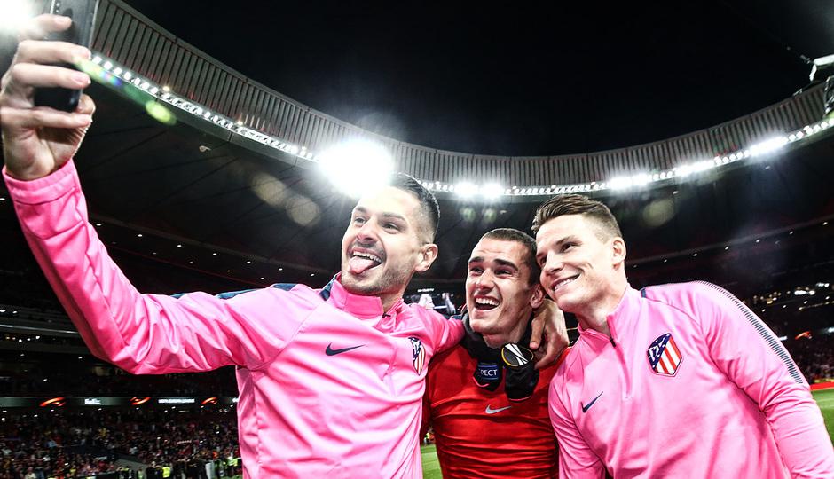temporada 17/18. Partido Wanda Metropolitano. Atlético Arsenal. La otra mirada. Ángel