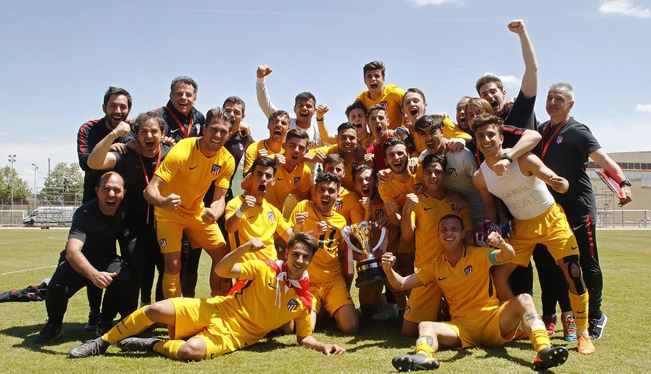 Temp. 17-18 | Copa de Campeones | Sporting de Gijón-Atlético de Madrid Juvenil A | Celebración copa