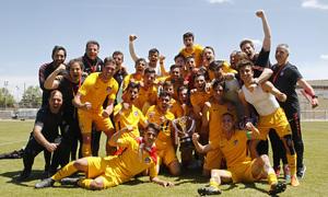 Temp. 17-18   Copa de Campeones   Sporting de Gijón-Atlético de Madrid Juvenil A   Celebración copa