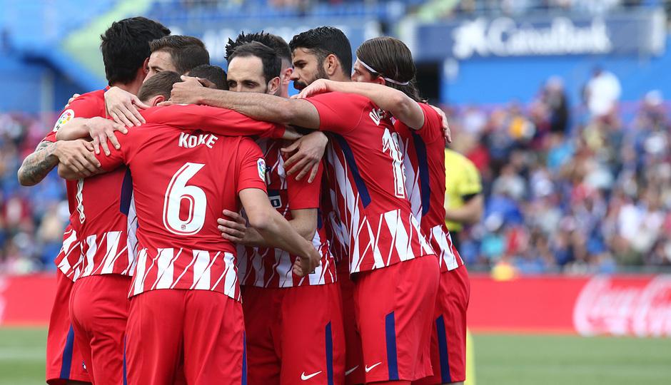 Temp 17/18 | Getafe - Atlético de Madrid | Jornada 37 | Celebración