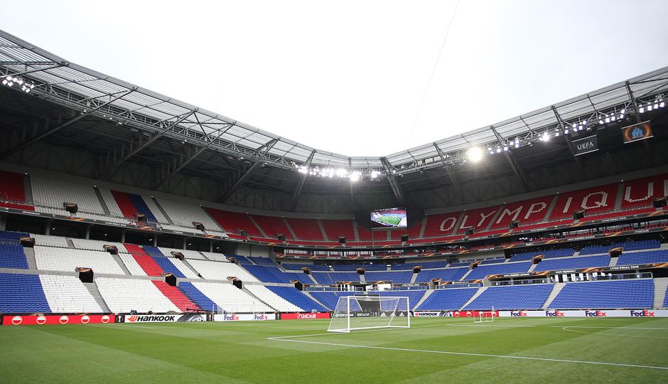 Temporada 17/18. Atlético de Madrid. Final de la Europa League en Lyon. Stade de Lyon