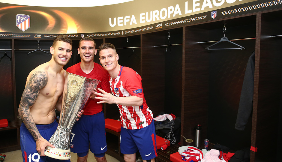Temporada 17/18 | Final de Lyon de la Europa League | Olympique de Marsella - Atlético de Madrid | Lucas, Gameiro y Griezmann