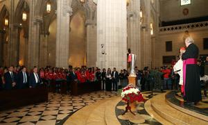 Temp. 17-18 | Recibimiento en el Catedral de la Almudena | Trofeo Europa League