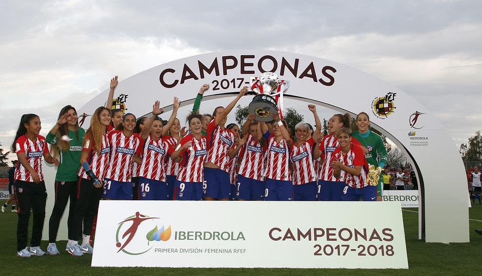 Temporada 17/18 | Atlético de Madrid Femenino - Valencia | Ida de la Copa de la Reina | Equipo con el título de Liga