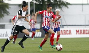 Temporada 17/18   Atlético de Madrid Femenino - Valencia   Ida de la Copa de la Reina   Aurélie Kaci