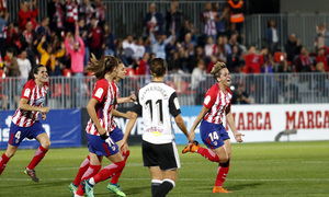 Temporada 17/18   Atlético de Madrid Femenino - Valencia   Ida de la Copa de la Reina   Marta Corredera