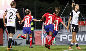 Temporada 17/18   Atlético de Madrid Femenino - Valencia   Ida de la Copa de la Reina   Amanda Sampedro