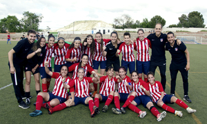 temporada 17/18. Femenino Juvenil B. Campeonas de Liga.