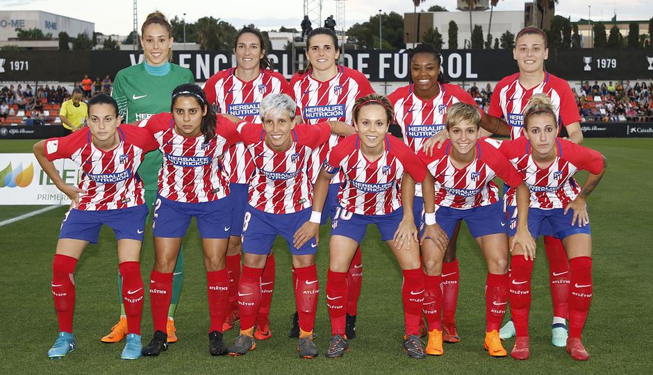 Temp 17/18   Valencia - Atlético de Madrid Femenino   Vuelta de cuartos de final de la Copa de la Reina   Once