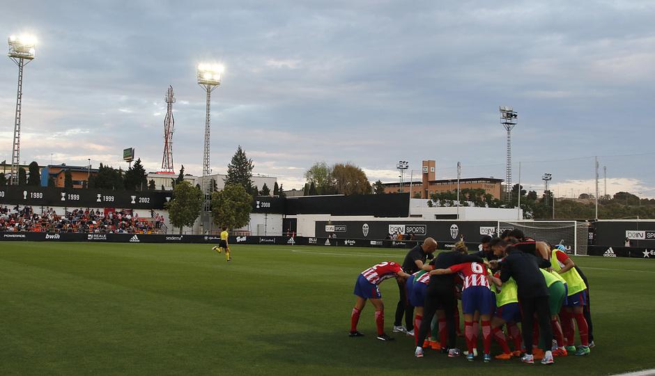 Temp 17/18   Valencia - Atlético de Madrid Femenino   Vuelta de cuartos de final de la Copa de la Reina   Piña y grito