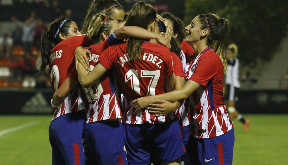 Temp 17/18   Valencia - Atlético de Madrid Femenino   Vuelta de cuartos de final de la Copa de la Reina   Falcó