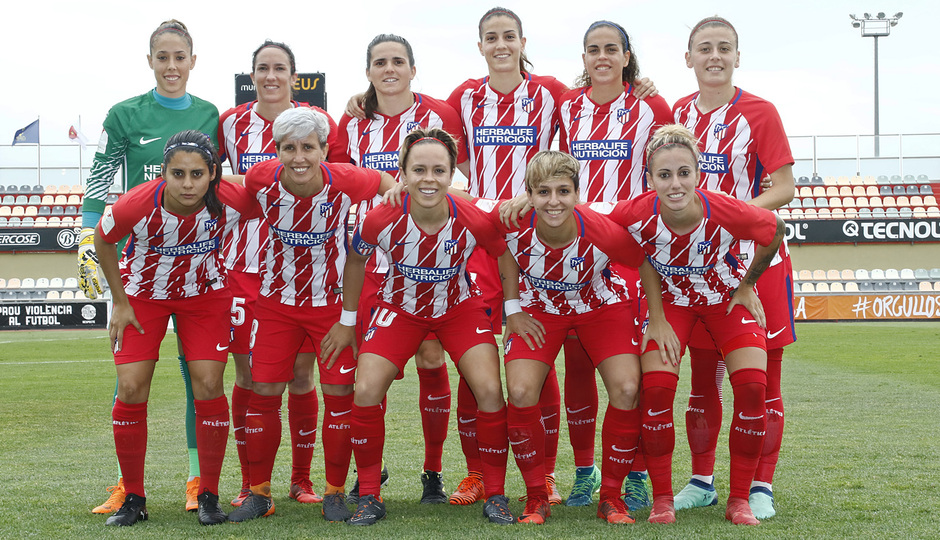 Temp. 17-18 | UD Granadilla Tenerife - Atlético de Madrid Femenino | Semifinal de la Copa de la Reina | Once
