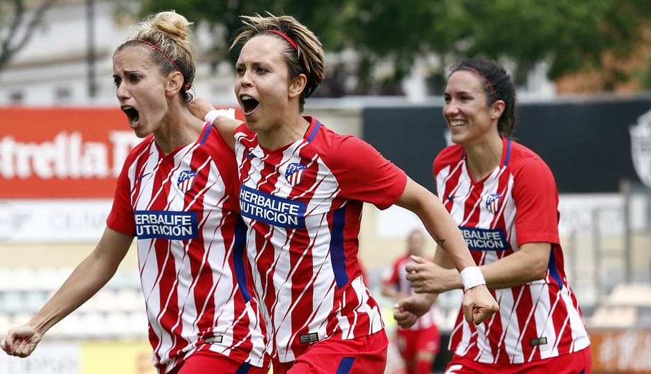 Temp. 17-18 | UD Granadilla Tenerife - Atlético de Madrid Femenino | Semifinal de la Copa de la Reina | Celebración