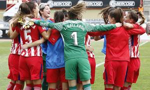 Temp. 17-18 | UD Granadilla Tenerife - Atlético de Madrid Femenino | Semifinal de la Copa de la Reina | Celebración final