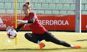 Temp 17/18 | Atlético de Madrid Femenino | Eentrenamiento en el estadio Romano de Mérida | Final Copa de la Reina | Lola Gallardo