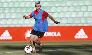 Temp 17/18 | Atlético de Madrid Femenino | Eentrenamiento en el estadio Romano de Mérida | Final Copa de la Reina | Sonia Bermúdez