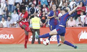 Temp. 17-18 | Final Copa de la Reina 2018 | FC Barcelona - Atlético de Madrid Femenino | Ludmila chutando