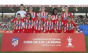 Temp. 17-18 | Final Copa de la Reina 2018 | FC Barcelona - Atlético de Madrid Femenino | Once titular
