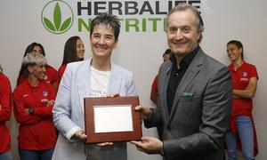 Temp. 17-18 | Atlético de Madrid Femenino | Visita a Herbalife | Lola Romero y Carlos Barroso
