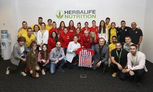 Temp. 17-18 | Atlético de Madrid Femenino | Visita a Herbalife | Foto familia