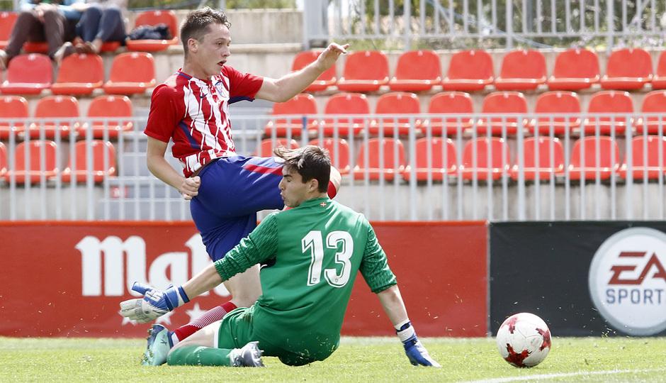 Temporada 17/18 | Copa del Rey Juvenil, semifinal | Atlético - Athletic | Gol Borja Garcés