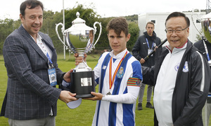Wanda Football Cup   Entrega de trofeos   Subcampeón de la Wanda Football Cup el Oporto
