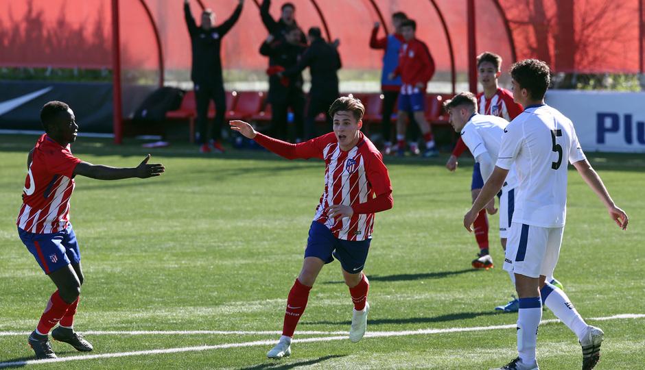GALERÍA JUVENIL A TRICAMPEÓN:  8 | Roro celebra un gol ante el Getafe