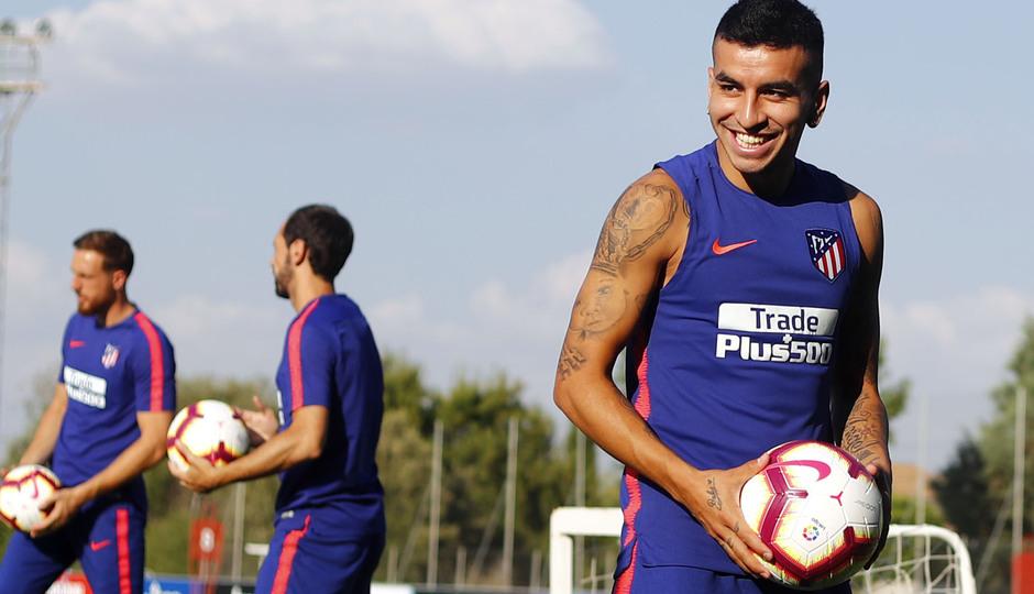 Temporada 18/19. Entrenamiento en la ciudad deportiva Wanda Atlético de Madrid. 13_07_2018. Correa sonriente.