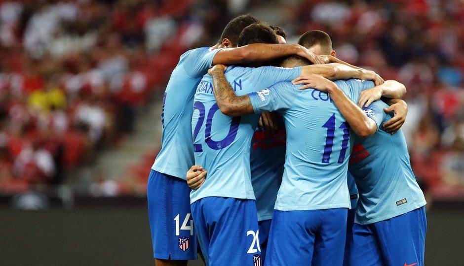 Temporada 2018-2019 | ICC Singapur  | Atlético de Madrid - Arsenal | Grupo celebración