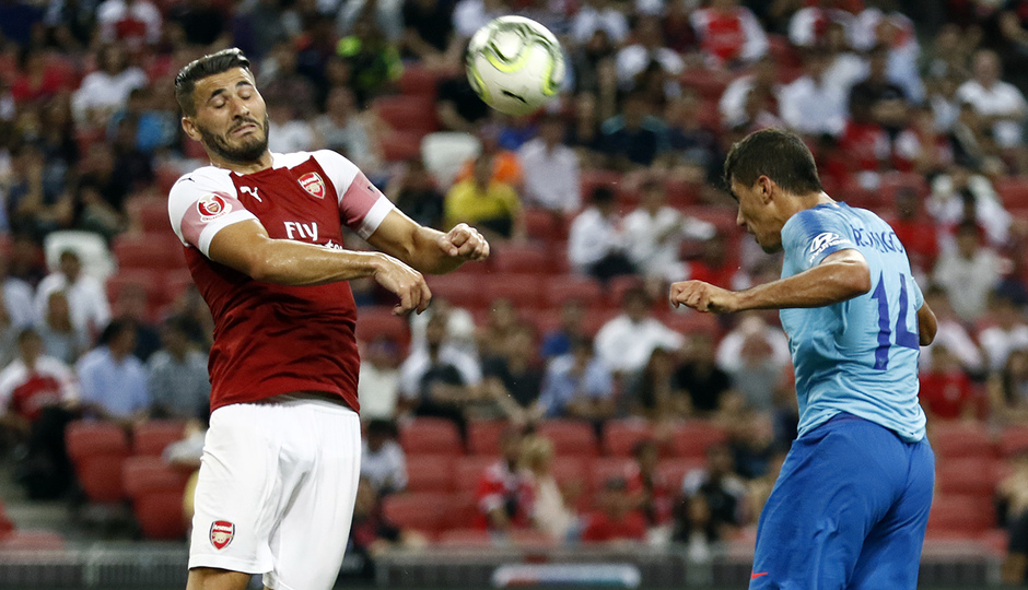 Temporada 2018-2019 | ICC Singapur  | Atlético de Madrid - Arsenal | Remate cabeza Rodrigo