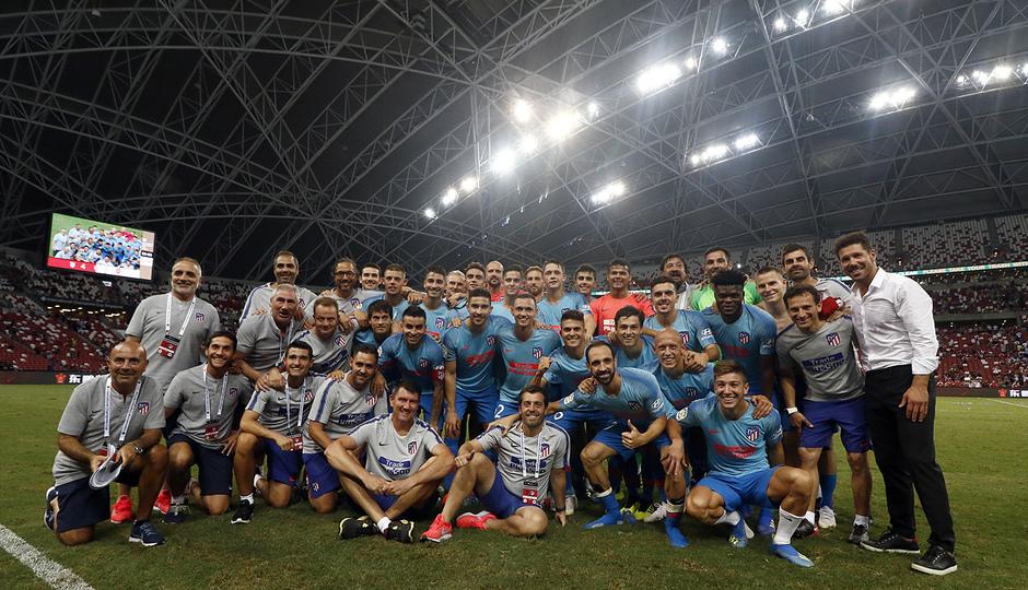 Temporada 2018-2019 | ICC Singapur | Atlético de Madrid - Arsenal | foto equipo