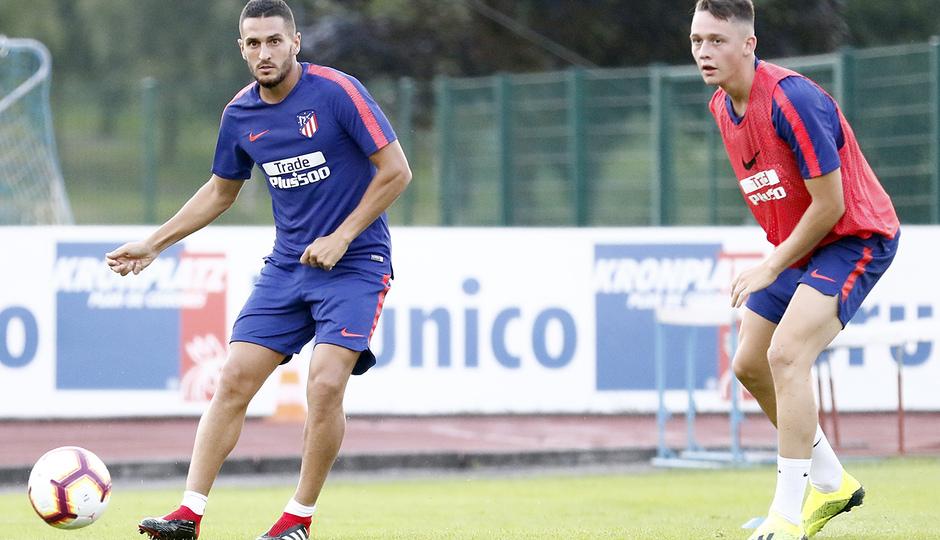 temporada 18/19. Entrenamiento en Brunico. Koke y Borja Garcés