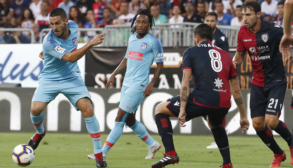 Temporada 2018-2019 | Cagliari-Atlético de Madrid | Koke, Gelson Martins