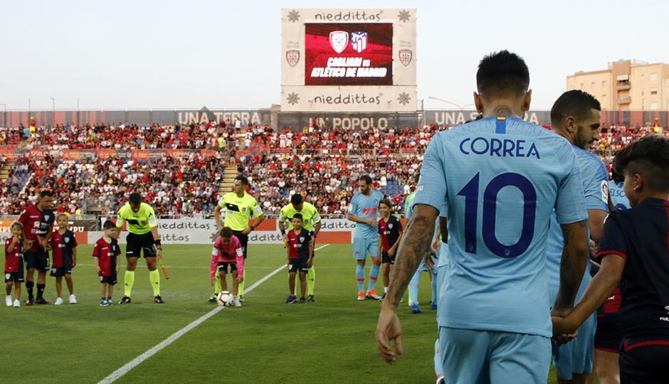 Temporada 2018-2019   Cagliari-Atlético de Madrid   Correa