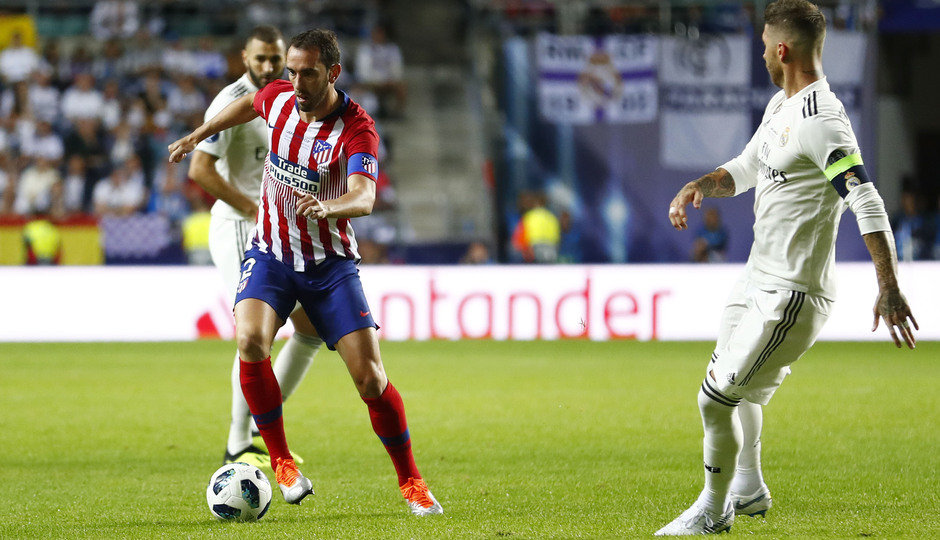 temporada 18/19. Supercopa de Europa. Diego Godín