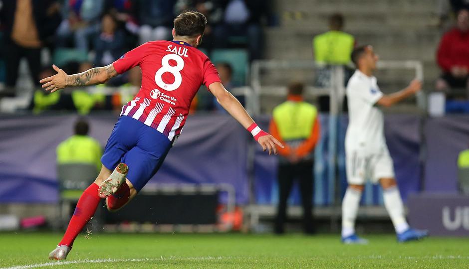 temporada 18/19. Supercopa de Europa. Saúl