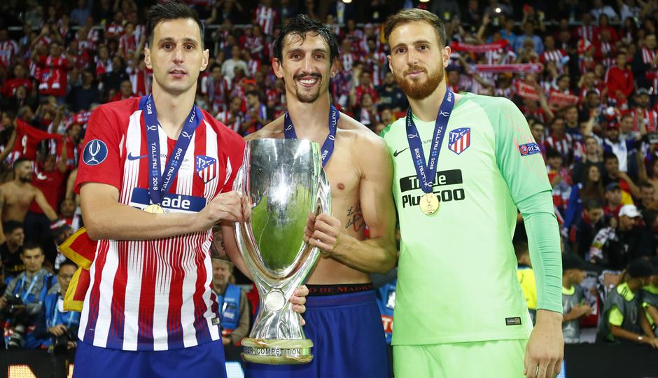 temporada 18/19. Supercopa de Europa. Kalinic, Savic, Oblak