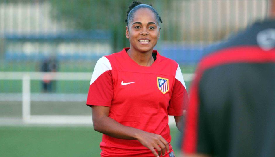 Temporada 2013-2014. Jade sonríe durante la primera sesión de entrenamiento