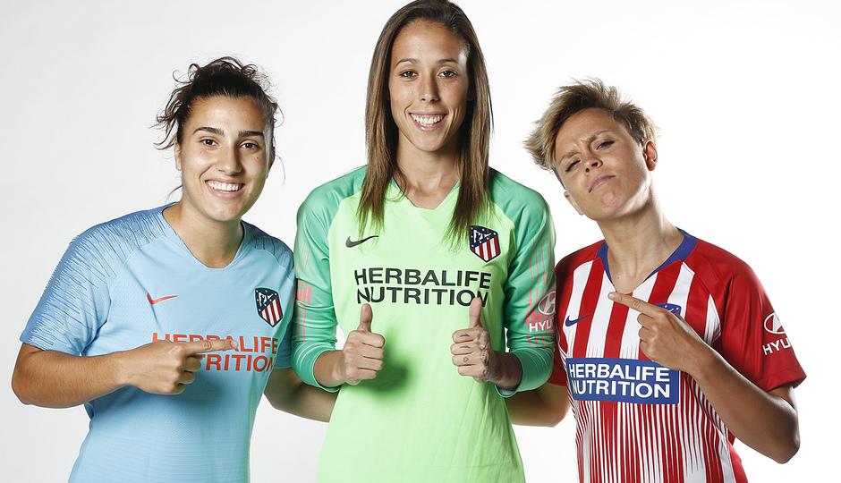 Shooting | Sesión de fotos del Atlético de Madrid Femenino. Carla Bautista, Lola Gallardo y Amanda Sampedro