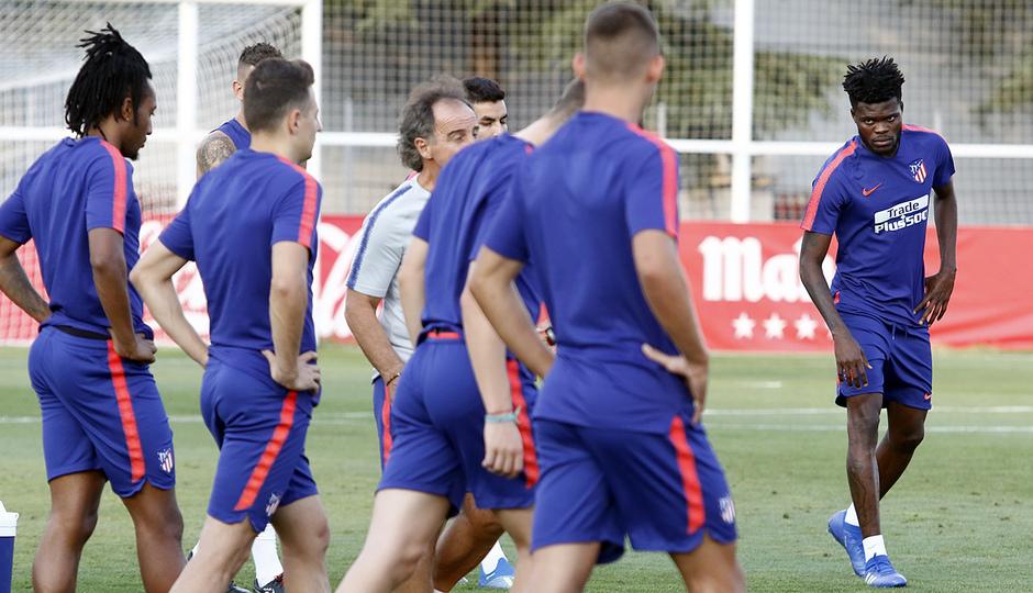 Temporada 18/19. Entrenamiento en la ciudad deportiva Wanda Atlético de Madrid. 23/08/2018. Thomas