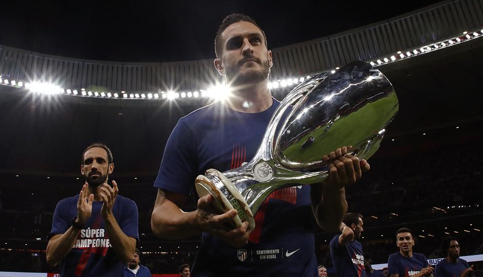 Temporada 2018-2019 | Celebración Supercopa de Europa | Koke