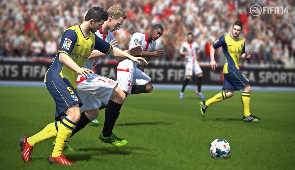 David Villa y Koke en el FIFA 14
