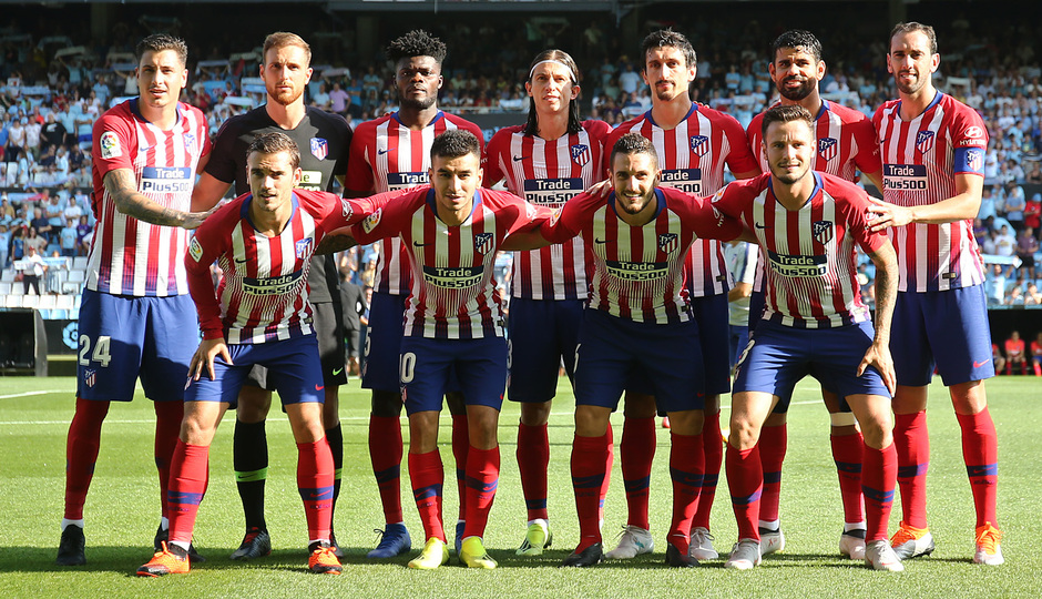 Temporada 2018-2019 | Celta - Atlético de Madrid | Once