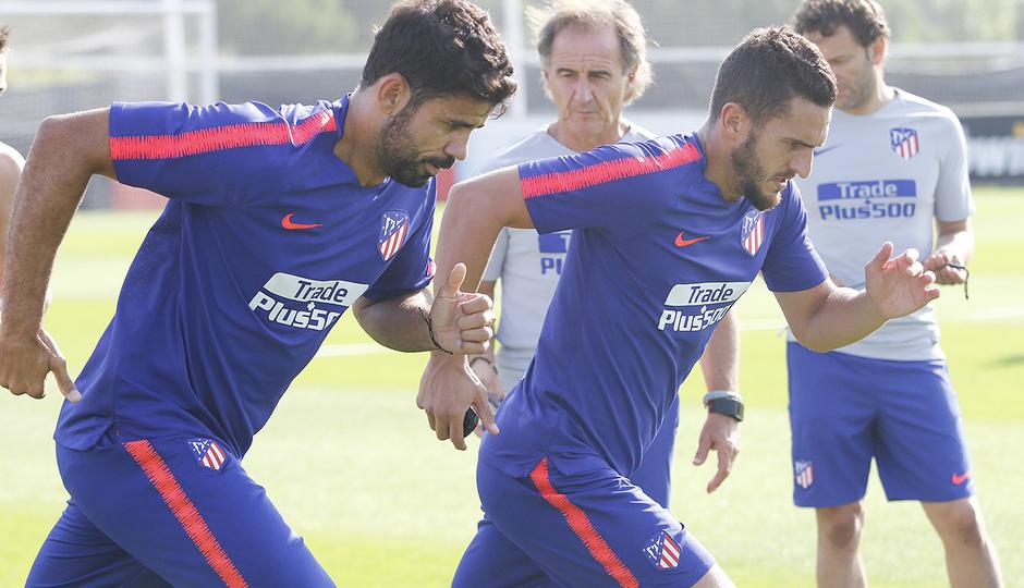 Temporada 18/19 | 04/09/2018 | Entrenamiento en el Wanda Metropolitano | Koke y Costa