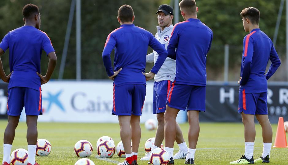 Temporada 18/19. Entrenamiento en la ciudad deportiva Wanda Atlético de Madrid. 06_09_2018. Simeone.
